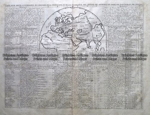 Antique Map 232-152 Eastern Hemisphere by Chatelain c.1719