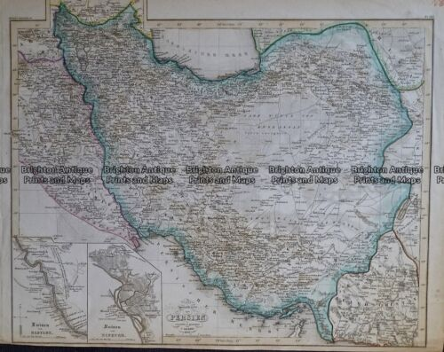 Antique Map 236-089 Specialkarte von Persian by Grassl c.1855