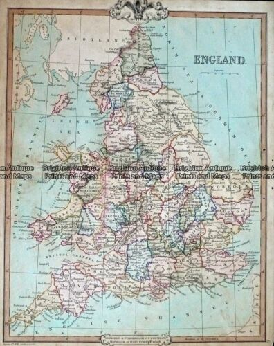 Antique Map 232-403 England by Cruchley c.1834