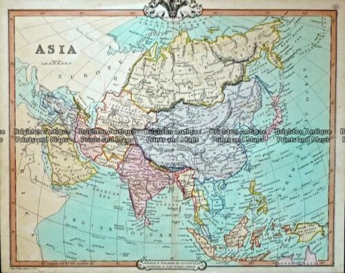 Antique Map 232-412 Asia by Cruchley c.1834