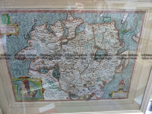 Antique map - The Province Ulster described by Speed c.1676 Ref# 232-896
