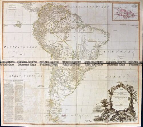 Antique Map 230-231 South America by Laurie & Whittle c.1794