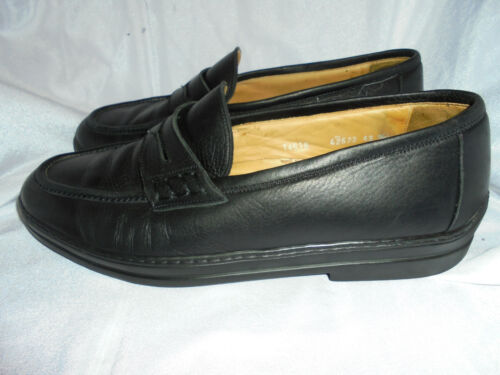 BRUNO MAGLI MEN'S BLACK  LEATHER SLIP ON LOAFER SHOES SIZE UK 9 EU 43 VGC