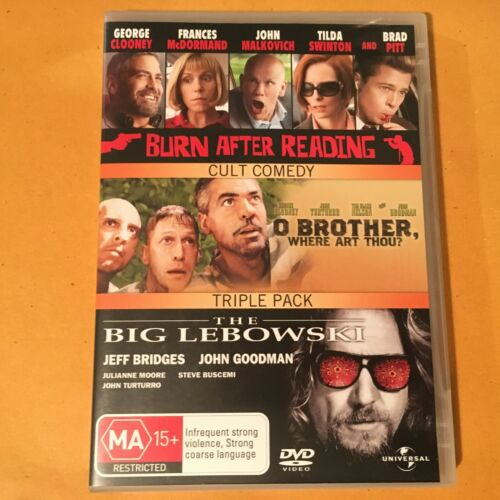 BURN AFTER READING/O BROTHER, WHERE ART THOU??THE BIG LEBOWSKI - DVD 3 DISCS -R4