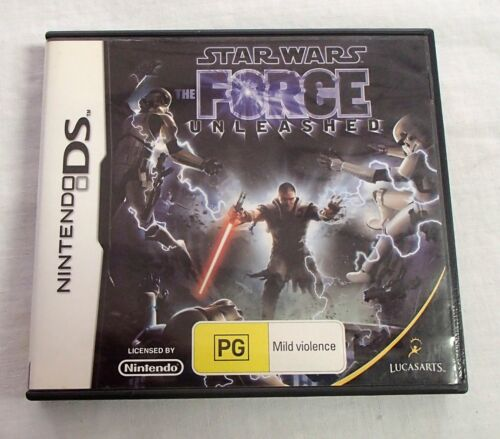 Star Wars The Force Unleashed Nintendo DS User Manual & Case Only NO GAME