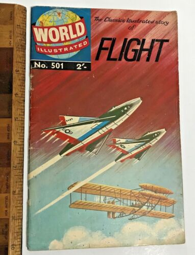VINTAGE CLASSICS ILLUSTRATED WORLD AROUND US GILBERTON COMIC 501 FLIGHT AUSSIE!