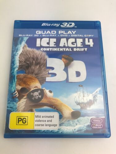 ICE AGE 4 Continental Drift - BLURAY 2010 AS NEW!