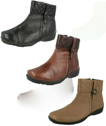 Ladies Easy B Leather EE Fit Ankle Boots FACTORY SECONDS : Dance