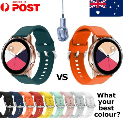 For Samsung Galaxy Watch Active Replacement Soft Silicon Sport Wrist Band Strap!