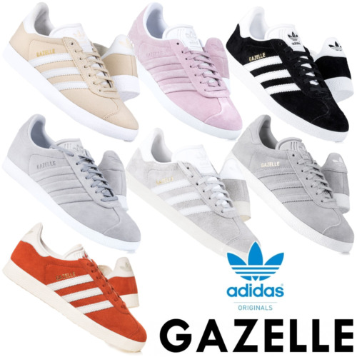 Adidas Originals Womens Gazelle Trainers Lace up Suede Casual Shoes RRP £70