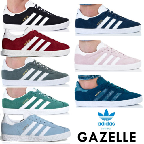 Adidas Originals NEW Gazelle Womens Trainers Lace up Suede Casual Shoes