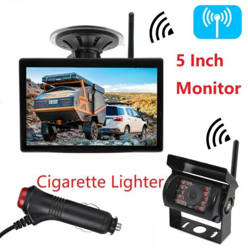"WIRELESS 5"" MONITOR REVERSING CAMERA REAR VIEW KIT 12V 24V TRUCK,CARAVAN, Boat <br/> Free Shipping, Free Cigarette Lighter,1 Year Warranty"