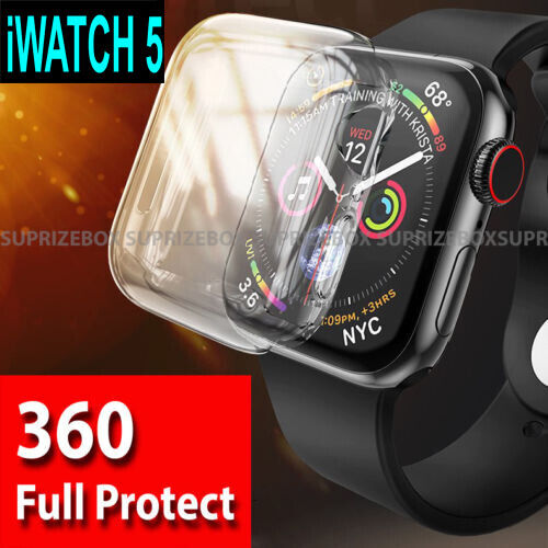 Case for Apple Watch Series 5 Ultra thin Clear TPU Screen Protector iWatch Cover