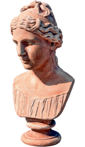 Testa di donna ideale in terracotta - Terracotta Greek woman head bust 12445