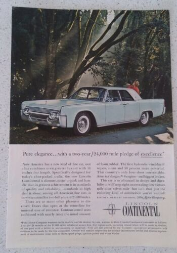 vintage 1950's LINCOLN CONTINENTAL advertisment