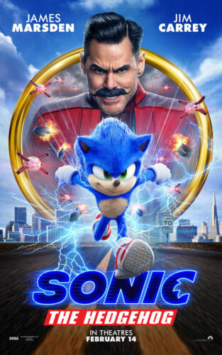 """Sonic the Hedgehog ( 11"""" x 17"""" ) Movie Collector's Poster Print -(T2)  B2G1F"""