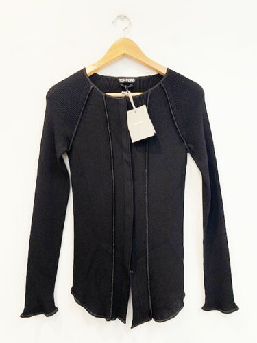 Designer BNWT Tom Ford Size S Black Simply Stunning Women's Top or Cardigan