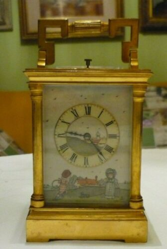ANTIQUE  COUAILLET  FRENCH REPEATER CARRIAGE CLOCK AROUND 1870/1900