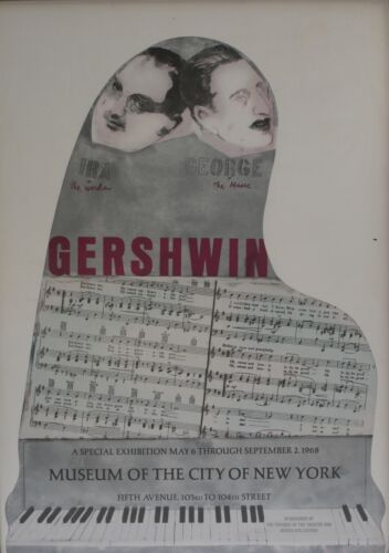 Original Exhibition Poster by Larry Rivers  American 1923-2002 GERSHWIN