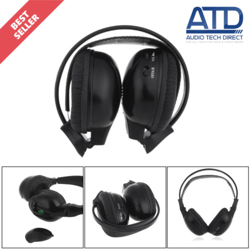 IR Infa Red Wireless Cordless Dual Channel Stereo Foldable Headphones DVD System