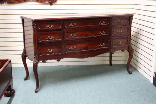 Beautiful Louis XV Mahogany chest of drawers Dresser with Brass Hardware