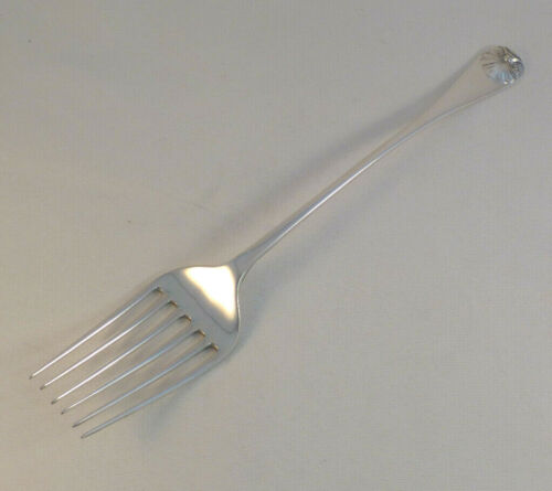 WILLIAMSBURG SHELL-STIEFF STERLING COLD MEAT SERVING FORK-10 1/4""