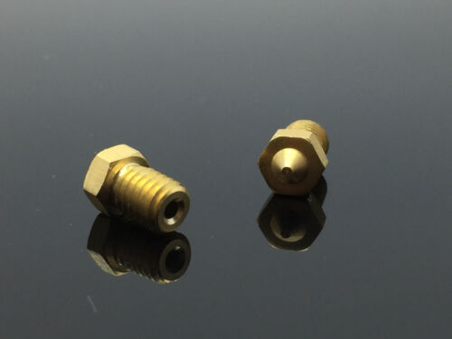 2x 0.4mm Extruder Brass Nozzle Head for MK8 1.75mm ABS PLA 3D Printer