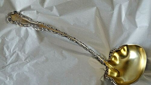 Sterling Silver large Antique Victorian Punch Ladle Louis XV by Whiting 1891