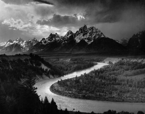 Official Historic Photo ANSEL ADAMS Snake River & Tetons Mountains Famous Nature