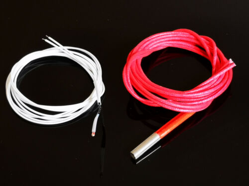 12V 40W Ceramic Cartridge Heater Heating Element Thermistor Cable For 3D Printer