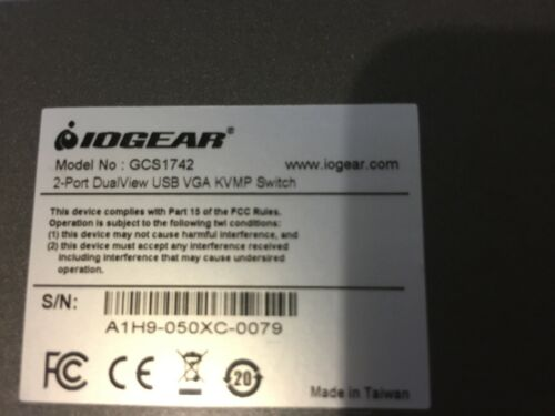 ioGear GCS1742 KVM Switch