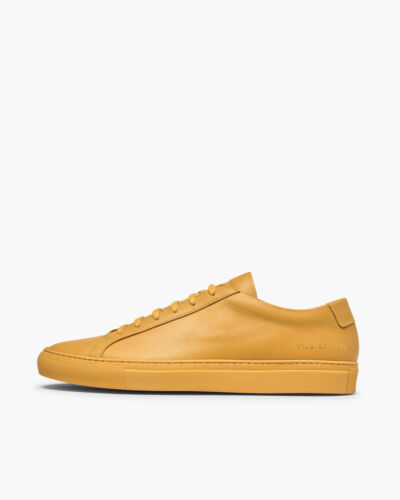 Common Projects Achilles Sneaker in Yellow Leather, sizes 41, 42, 43 & 44 - BNWB
