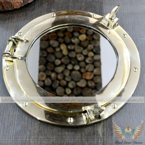 SOLID BRASS NAUTICAL MARINE PORTHOLE MIRROR OFFICE DECOR CORPORATE GIFT ITEM