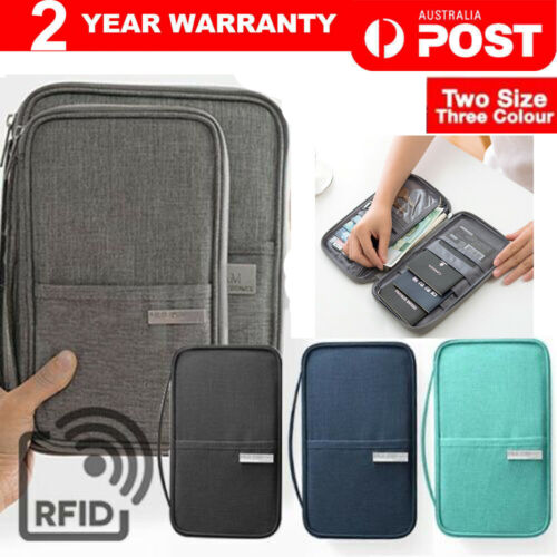 Waterproof Passport Holder Travel Document Wallet RFID Bag Family Case Organizer <br/> SAME DAY SHIPPING, From MELBOURNE AUSTRALIA