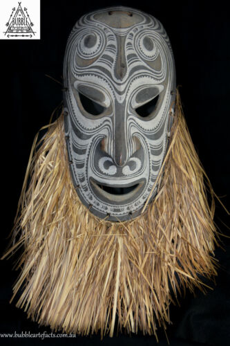 Powerful Fine Vintage Carved Tambanum House Mask, Angoram, PNG, Papua New Guinea