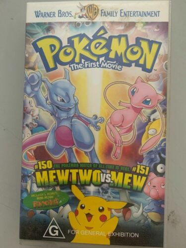 Pokemon The First Movie: Mewtwo Vs Mew - VHS Tape Cassette Vintage