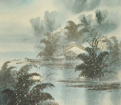 """CHINESE PAINTING LANDSCAPE HANGING SCROLL 68"""" PIC ART Antique ASIAN China a175"""