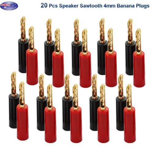 FP! From OZ Quality 20PC Banana Bannana 4MM Male Plug Spacker Jack Connector