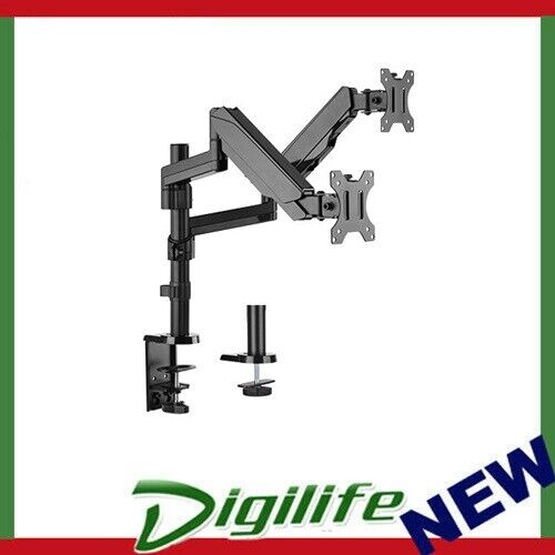 """Brateck Dual Minitor Full Extension Gas Spring Dual Monitor Arm for 17""""-32"""""""