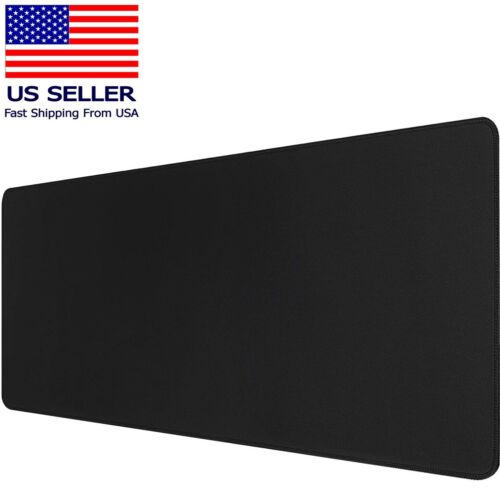 Large Extended Gaming Mouse Pad Stitched Edges Non-Slip Waterproof 31.5x11.8 in