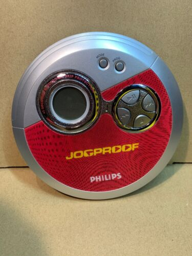 Philips Red Jogproof CD Player Model AX3312/17 45 Second Skip Protection (2-104)