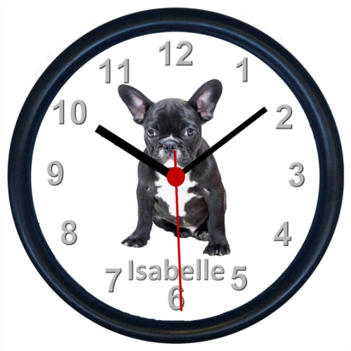 Personalised FRENCH BULLDOG Wall Clock
