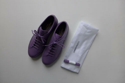 Common Projects Achilles Sneakers in Violet Leather, size 41 - BNWB, RRP £315