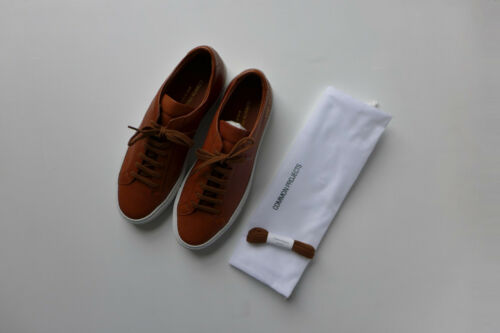 Common Projects Achilles Premium Sneakers in Tan Leather, size 40 - BNWB, £345