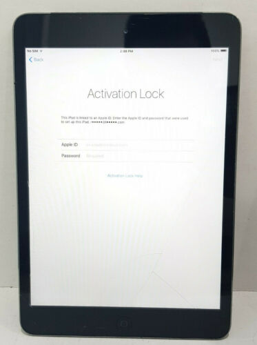 "Apple iPad mini 1 A1455 16GB Wi-Fi 7.9"" SOLD AS IS/crack screen /Activation lock"