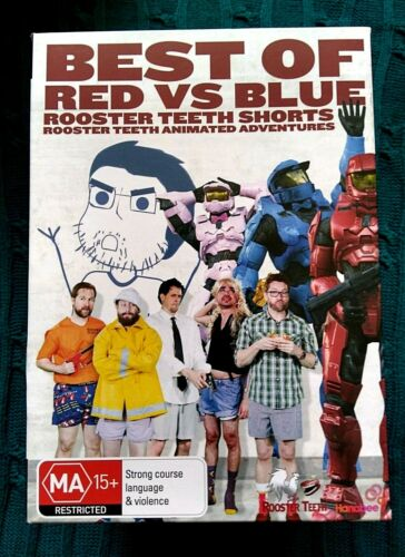 BEST OF RED VS BLUE- ROOSTER TEETH SHORTS – DVD, 3-DISC BOX SET- R-4- LIKE NEW