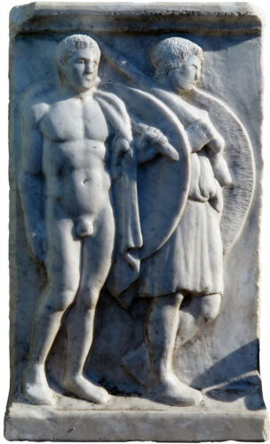 Bassorilievo greco  marmo di Carrara - Greek basrelief Carrara marble 5405