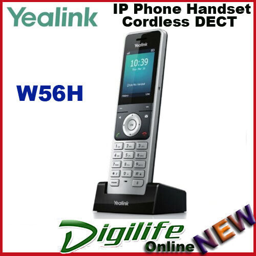 Yealink W56H Cordless DECT IP Phone Handset For use with W60P IPDECT BaseStation