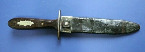 CIVIL WAR CONFEDERATE SMALL SIDE KNIFE NOT SWORD W ORIGINAL LEATHER SCABBARDEdged Weapons - 36037