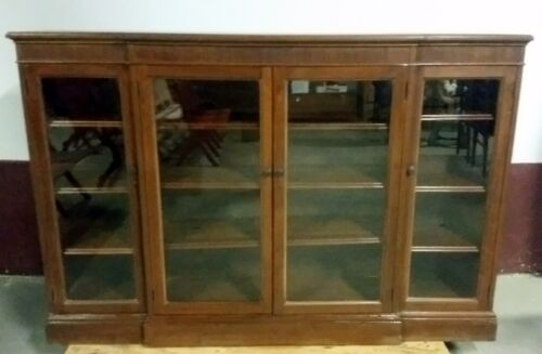 Antique Bookcase GOOD CONDITION China Cabinet VICTORIAN 71W 48H, DELIVER 100 Mi
